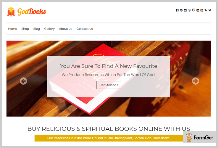 GodBooks Book Store WordPress Theme