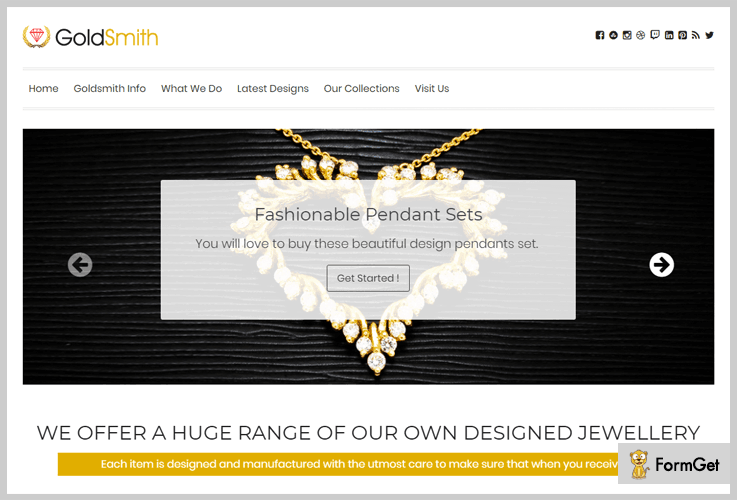 Gold Smith Jewelry WordPress Theme