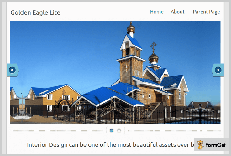 Golden Eagle Lite Blogger WordPress Theme