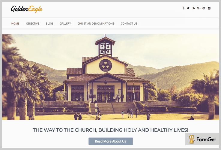 Golden Eagle Mobile Responsive WordPress Theme