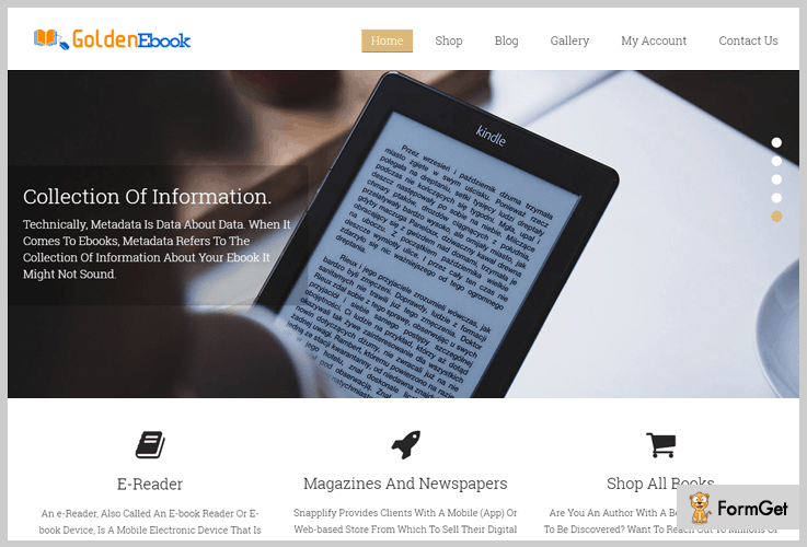 GoldenEbook Book Store WordPress Theme