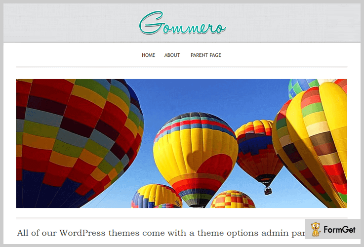 Gommero Blogger WordPress Theme