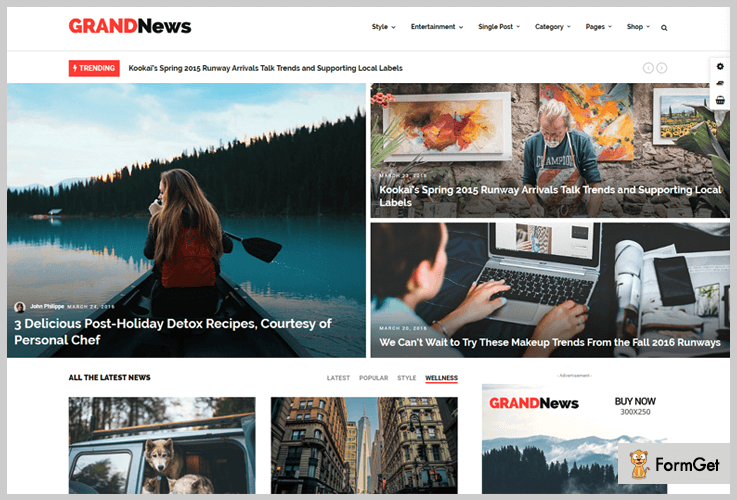 GrandNews Tech News WordPress Theme