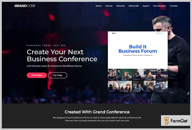 GrandConf Conference WordPress Theme