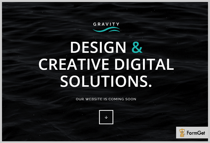 GravityComing Soon WordPress Theme