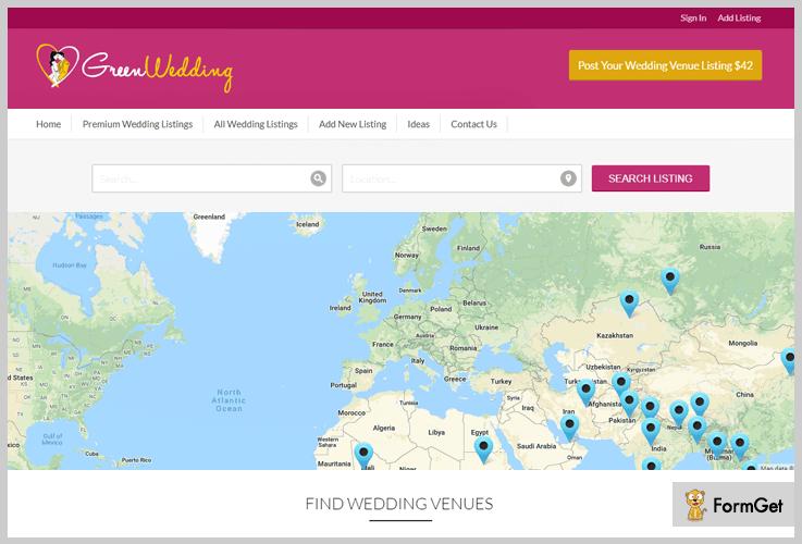 GreenWedding Wedding Planner WordPress Theme