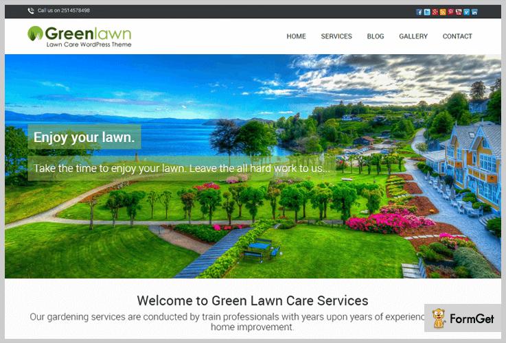 Green Lawn Landscaping WordPress Theme