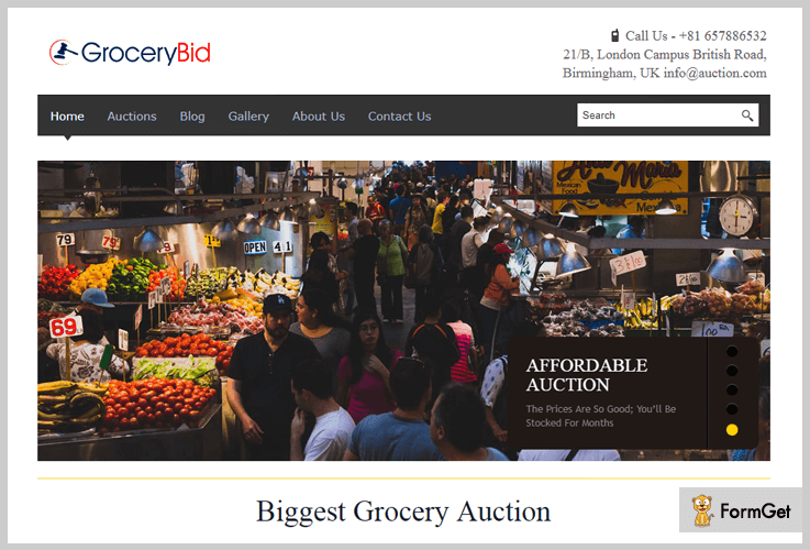 Grocery Bid Grocery Store WordPress Theme