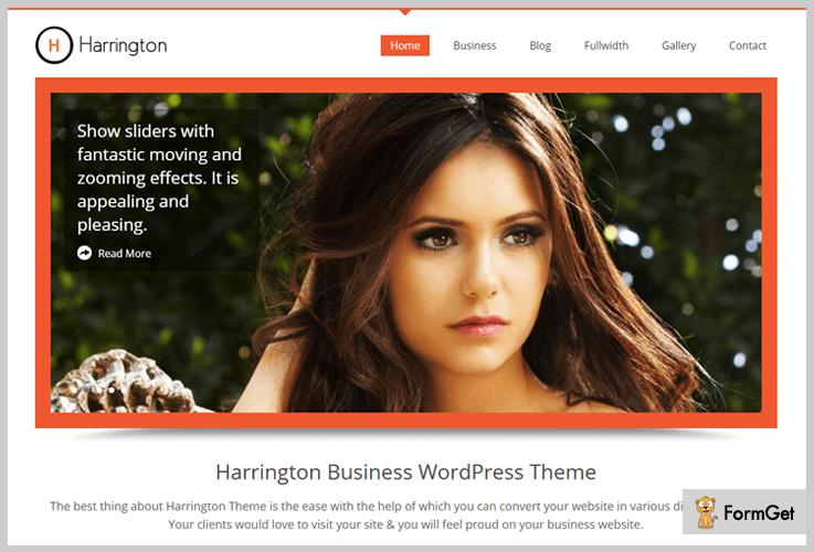 Harrington RTL WordPress Theme