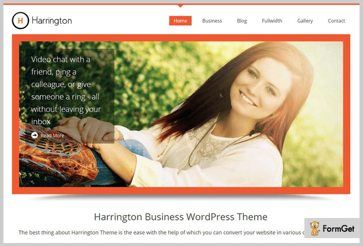 Harrington WordPress Theme