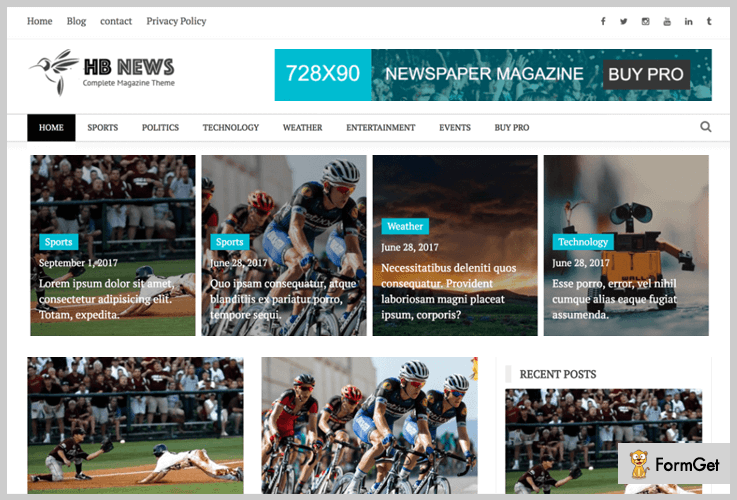 Newspaper Magazine Newspaper WordPress Theme