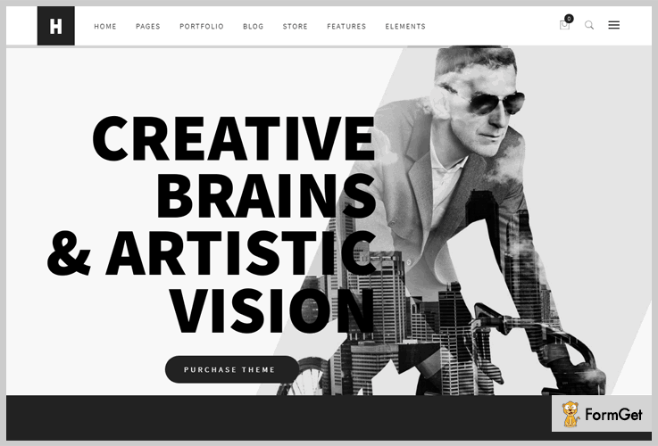 Heli WordPress Themes Black and White