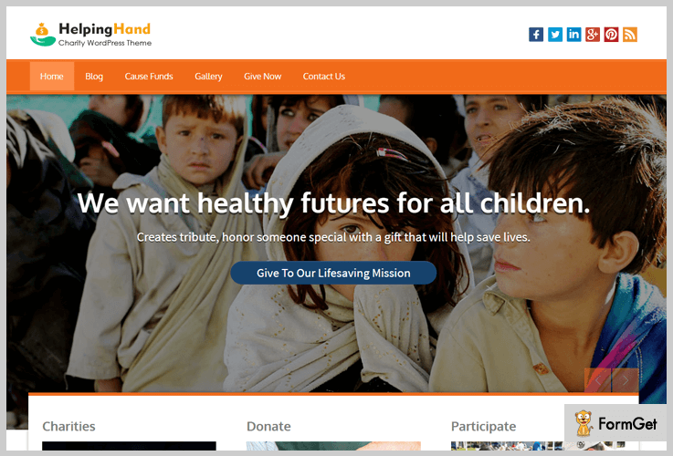 helping hand nonprofit wordpress themes