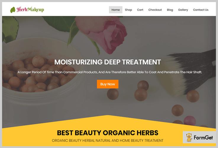 HerbMakeup Shop WordPress Themes