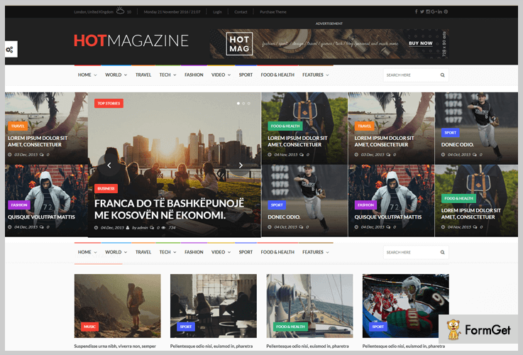HotMagazine Tech News WordPress Theme