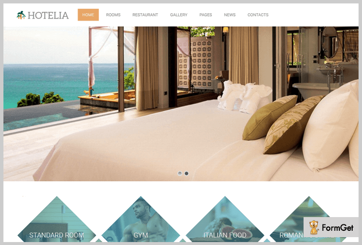 Hotelia Bed And Breakfast WordPress Themes