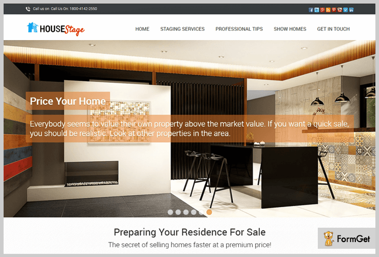 House Stage Realtor WordPress Theme