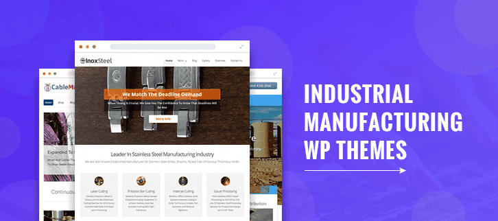 industrial manufacturing wordpress themes
