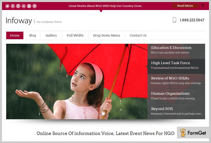 InfoWay Human Resource WordPress Themes