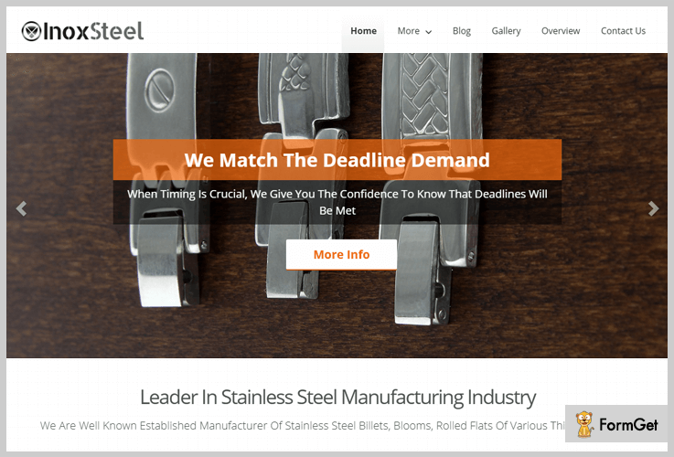 inox steel industrial manufacturing wordpress themes