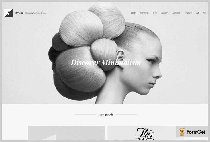Inverto WordPress Themes Black and White