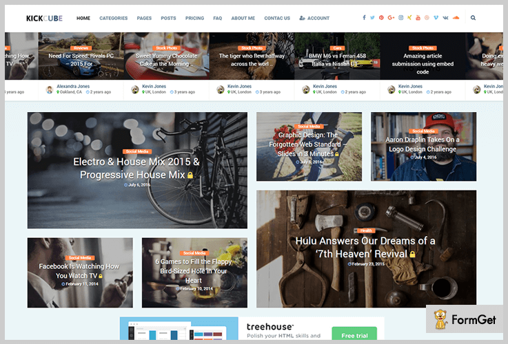 Kickcube Membership WordPress Themes