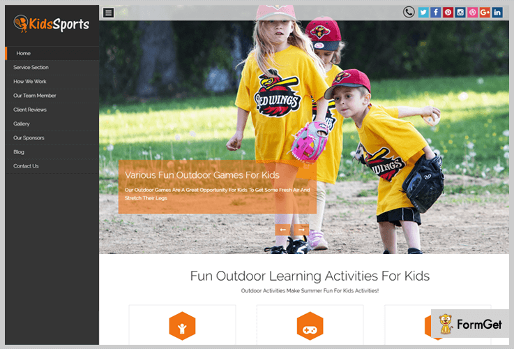 Kids Sports Play School WordPress Theme