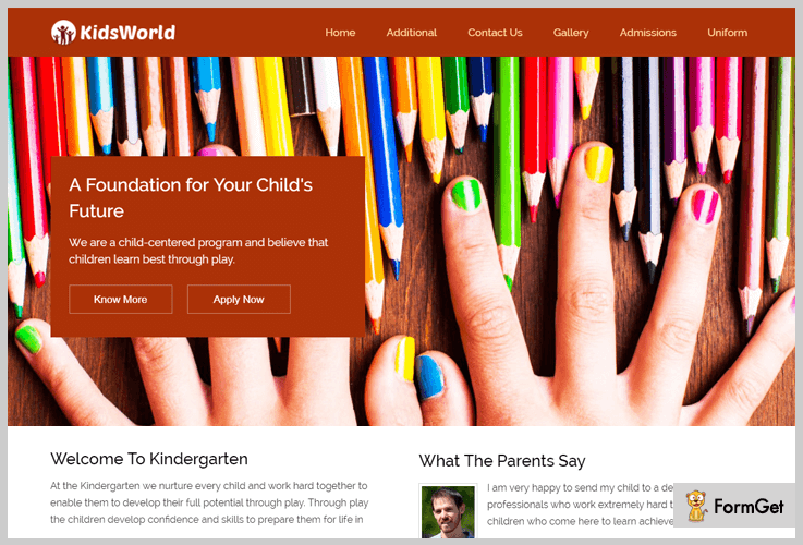 Kids World Play School WordPress Theme