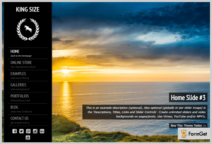 KingSize Video Background WordPress Theme