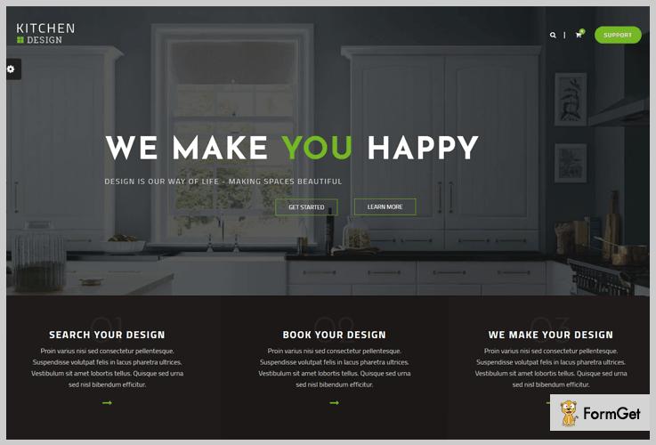 Kitchen Design Kitchen WordPress Theme