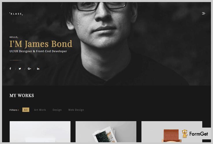 Klass Dark WordPress Theme