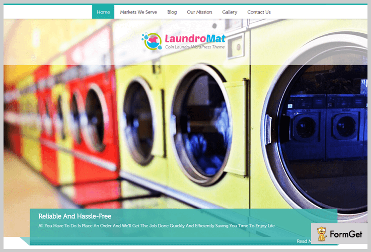laundromat laundary wordpress theme