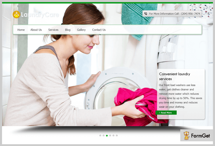 laundrycare laundary wordpress theme