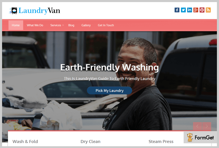 laundryvan laundary wordpress theme