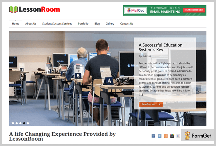 LessonRoom Skill Education WordPress Themes