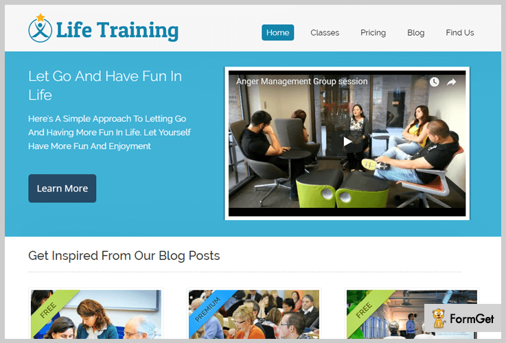 Life Training Life Coach WordPress Themes