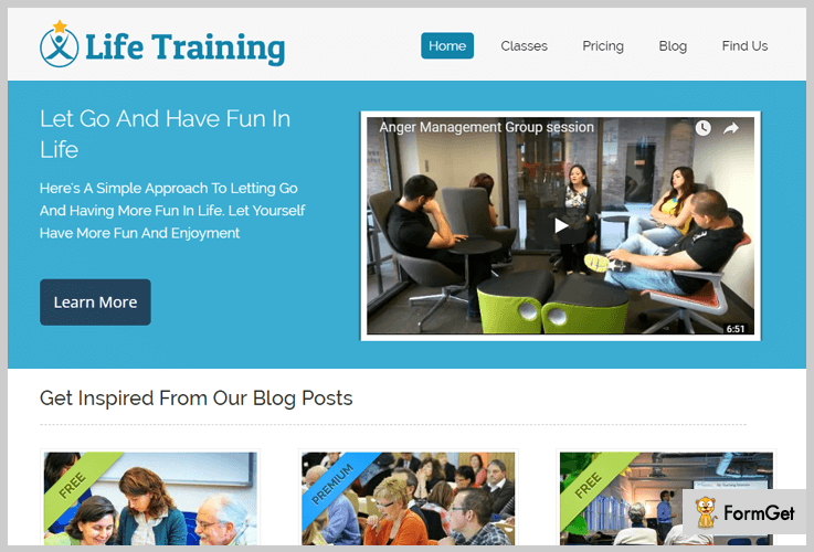 Life Training Tutorial WordPress Theme