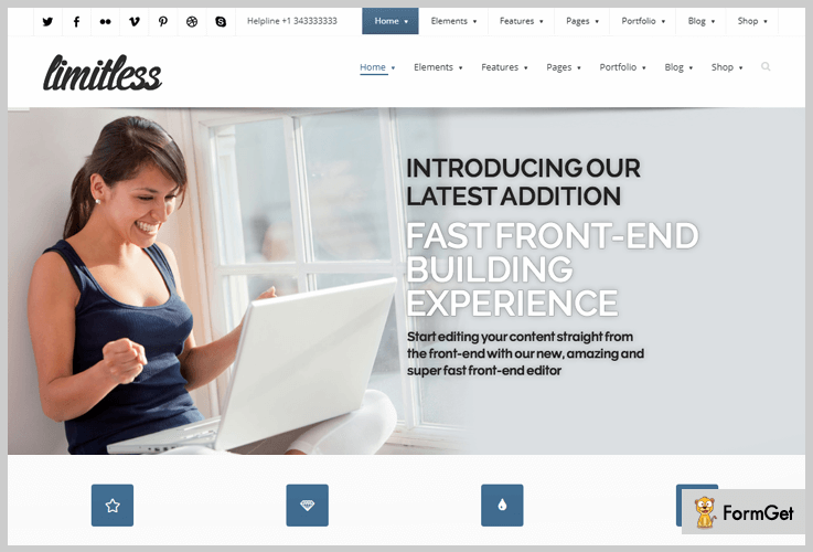 Limitless Drag And Drop WordPress Theme