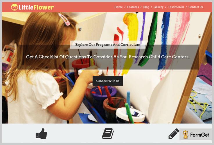 Little Flower School WordPress Theme