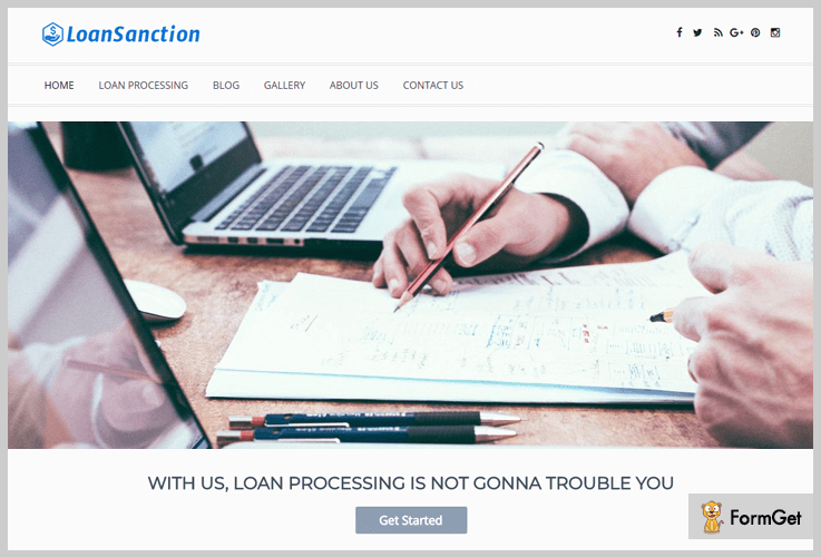 LoanSanction Financial WordPress Theme