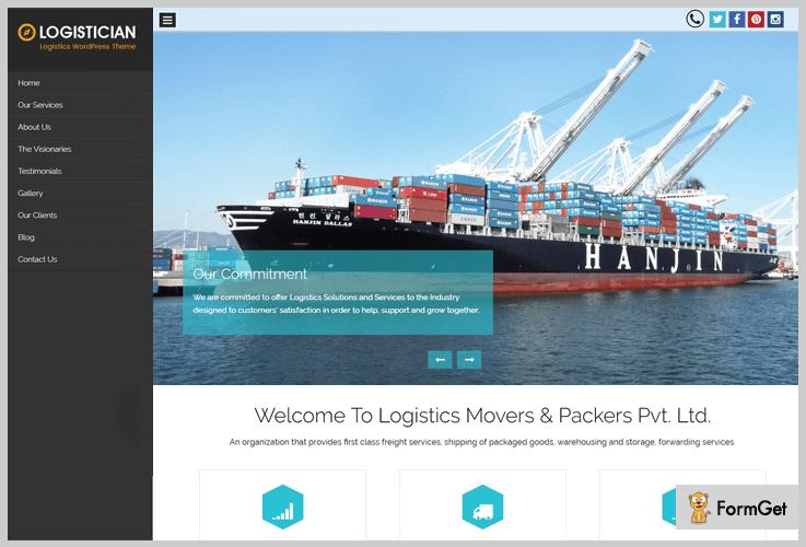 Logistician Logistics WordPress Theme