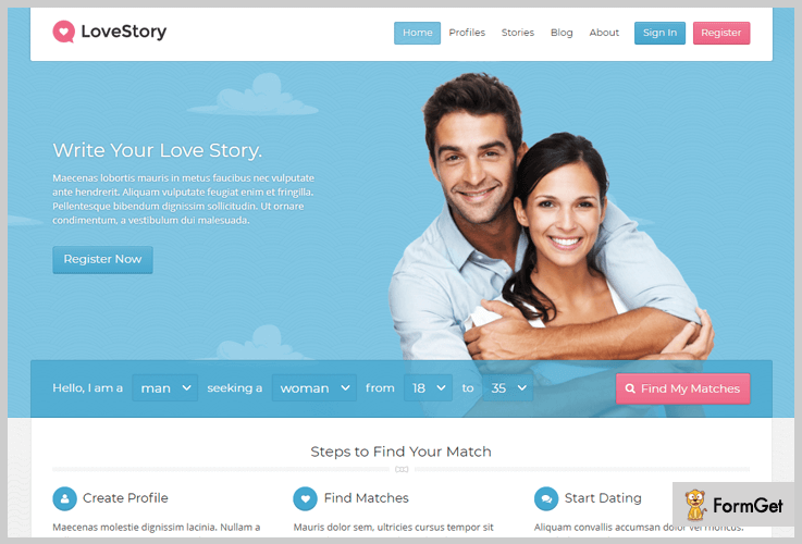 LoveStory Dating WordPress Themes
