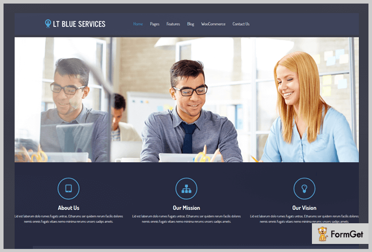 Lt Blue Services Tech News WordPress Theme