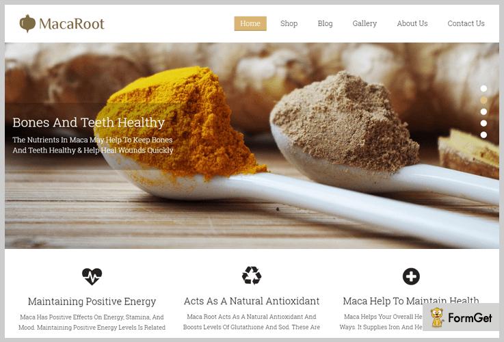 MacaRoot Organic Food WordPress Theme