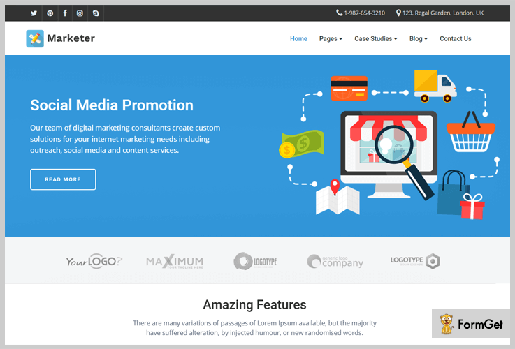 Social Media Marketing WordPress Theme