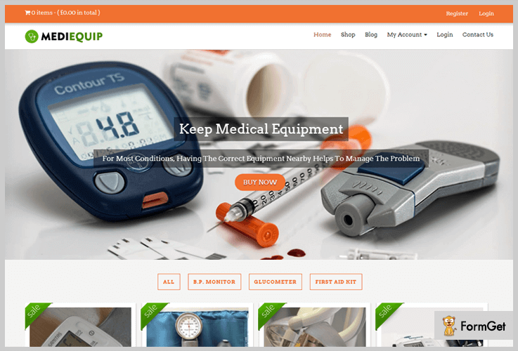 MEDIEQUIP Medical WordPress Themes