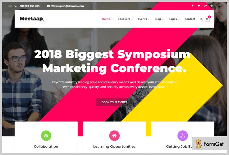 Meetaap Conference WordPress Theme