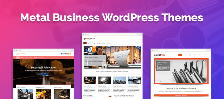 Metal Business WordPress Themes