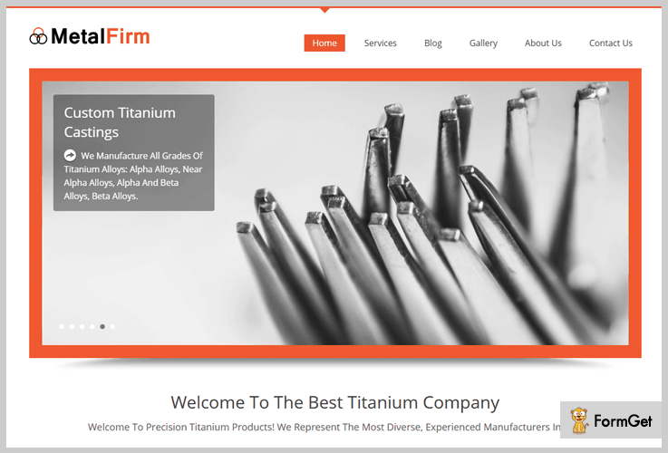 Metal Firm Metal Business WordPress Theme