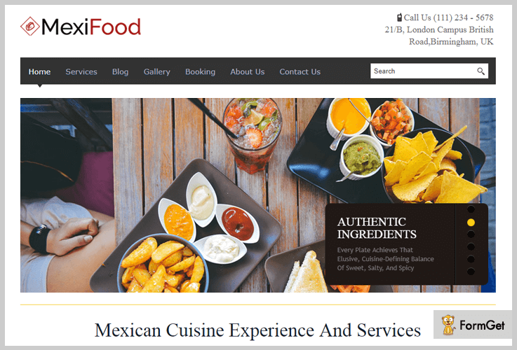 5+ Restaurant WordPress Themes 2018 (Free & Paid) | FormGet